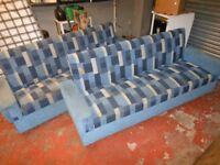 2 x 'Bradford' 4 Seater Sofas, reclinable