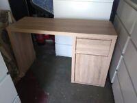 Desk oak colour solid45cmx119(top) x 74.5h