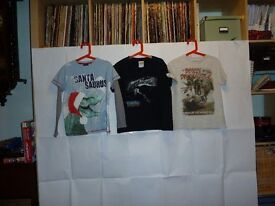 """Kids """"Dinosaur"""" Tshirts x 3 (6-7 yrs)"""