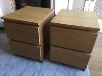 Malm bedside drawers