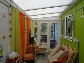 Conservatory Lean To. Free to collect. 15 ft x 5 1/2 ft. Will need dismantling.