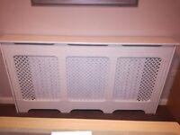 White radiator cover