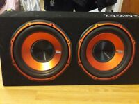 """Edge twin 12"""" active subwoofer."""