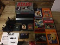 Atari 2600 junior with 2 joysticks and loads of games