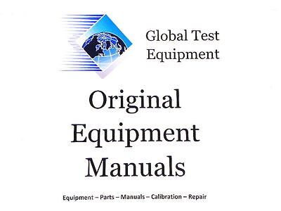 Electronic Measurements - Tcr10 Power Supply Instruction Manual