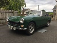 MG midget - great car but needs work to engine - project for classic car enthusiast.