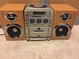 Cassette and CD Player stereo