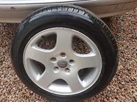 Audi Alloy wheel with Mitchelin Tyre