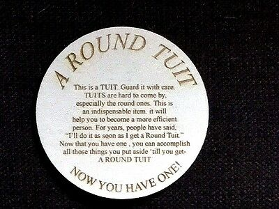 A Round Tuit, wooden Coaster present house rustic funny home gift