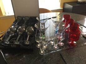 Rennie mackintosh wine glasses, cocktail glasses and lots extra