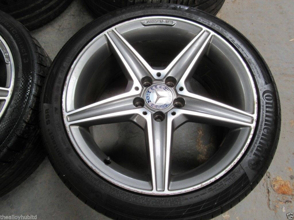 Genuine mercedes benz c class w205 amg 18 inch 5 spoke for Mercedes benz tyres