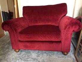 Snuggler chair brand new from Fenwick's cherry velvet