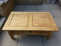 Coffee table solid pine