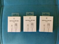 APPLE 1M LIGHTNING TO USB CABLES