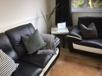 TWO 2 SEATER LEATHER SOFAS (SiSi Italia) WILLING THE SELL 1 OR BOTH! HARDLY USED, 2 YEARS OLD.