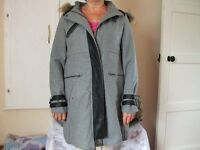 Ladies coat in Grey from La Redoute. Size 12