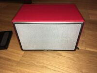 Wow Audio Pro ALLROOM Air One - apple airplay deep red leather BOXED COLLECTION ONLY