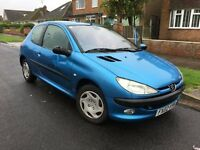 Peugeot 206 1.1 Petrol 2002 in Blue Breaking for Parts