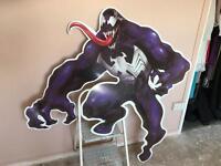 VENOM character life size cut-out Marvel Comics