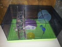 2 HAMSTER CAGES WITH ACCESSORIES £10 EACH