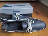 Sebago Docksides. Size 9 Navy Blue. Never worn