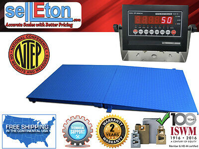 New Ntep Legal Industrial 48 X 48 4 X 4 Floor Scale With Ramp 10000 X 2 Lb