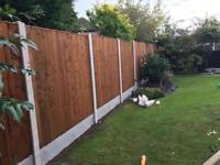 ☃️New Pressure Treated Brown Feather Edge Flat Top Fence Panels
