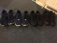 4 pairs of trainers for sale