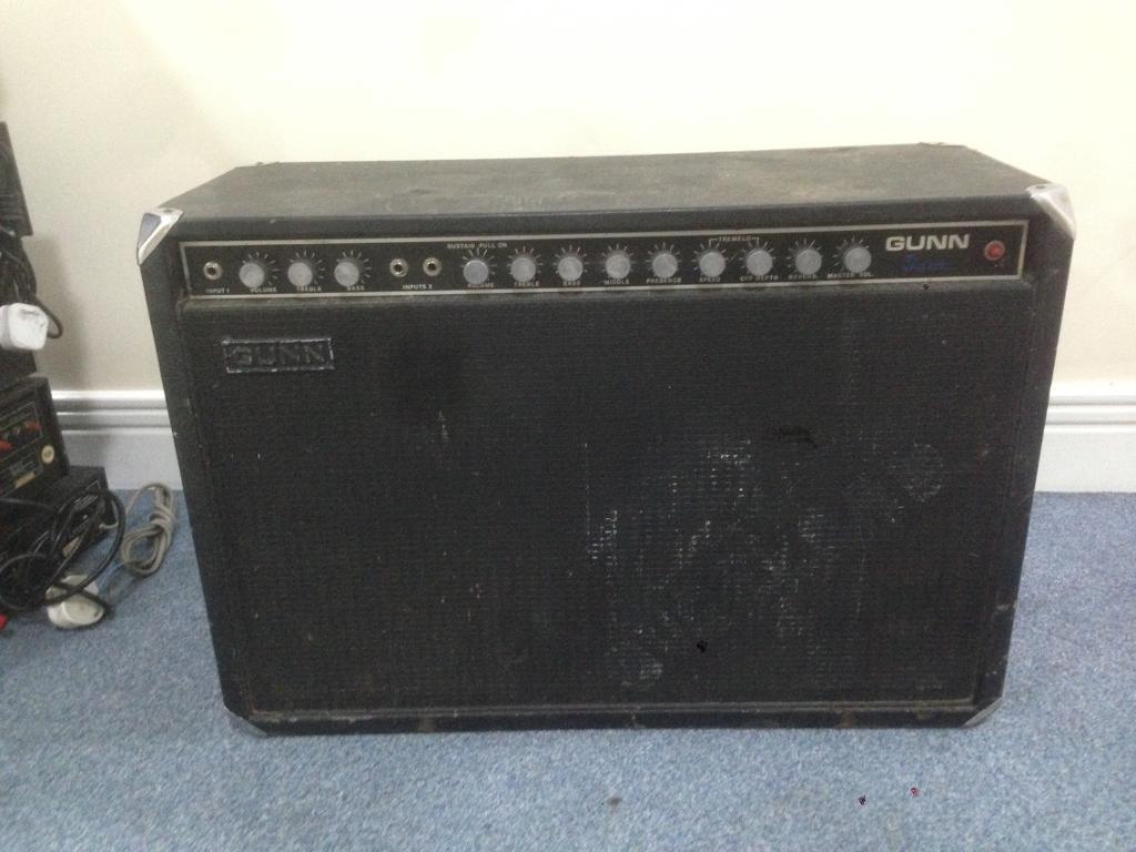 gunn classic vintage 70 39 s valve combo guitar amp for restoration in stratford london gumtree. Black Bedroom Furniture Sets. Home Design Ideas