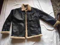 Atmosphere ladies faux leather coat jacket black size 14 fur inside £5used