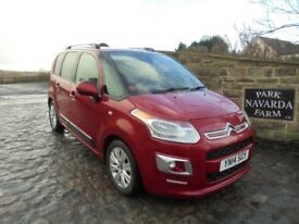Citroen C3 Picasso Exclusive In Red, 2014 14 reg, SALE PRICE GRAB A BARGAIN WAS £7995 NOW £7495
