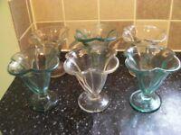 Set of Ice Cream Glasses