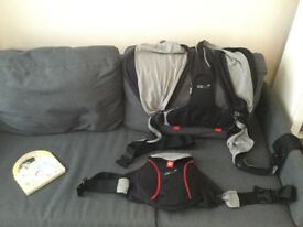 Baby carrier Caboo dx grey/black pristine condition