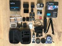 GoPro Hero 3 Black Edition With LCD Touch BacPac And extras