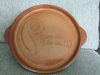 Large Earthenware Pizza Plate
