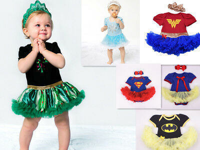 BABY GIRLS PRINCESS dress Superhero Girl Tutu Fancy Party Outfit Dress Costume](Superhero Infant Costume)