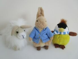 Peter rabbit and soft toys