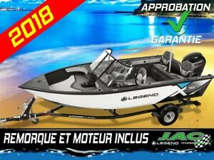 2018 Legend Boats Bateau X18 Mercury 90 ELPT Chaloupe pêche **Pr