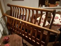 DOUBLE BED BEAUTIFUL SOLID WOOD