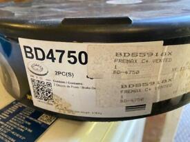 FREMAX BD4750 Premium Black Carbon Front Disc Brakes