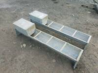 Choice of two 5ft field shed galvanised water trough livestock farm tractor