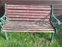 Cast iron garden bench and table legs