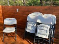 X 15 Sturdy folding chairs