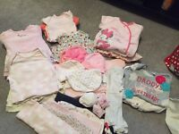 Baby girl 0-6 month clothes bundle
