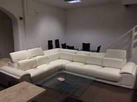 White Elcanto Corner Sofa (Display Model)