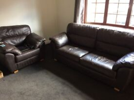 Two seater settee and a chair