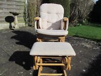 Baby Weaver Rocking Chair and Stool