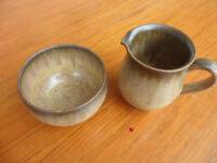 Denby Denbyware Romany 1 cream jug / 1 open sugar bowl