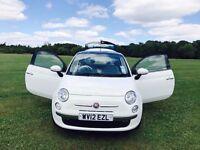 Fiat 500 Lounge 3 Door Hatchback, White, Petrol - Excellent Condition!