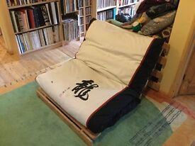 Futon single bed sofa/chair
